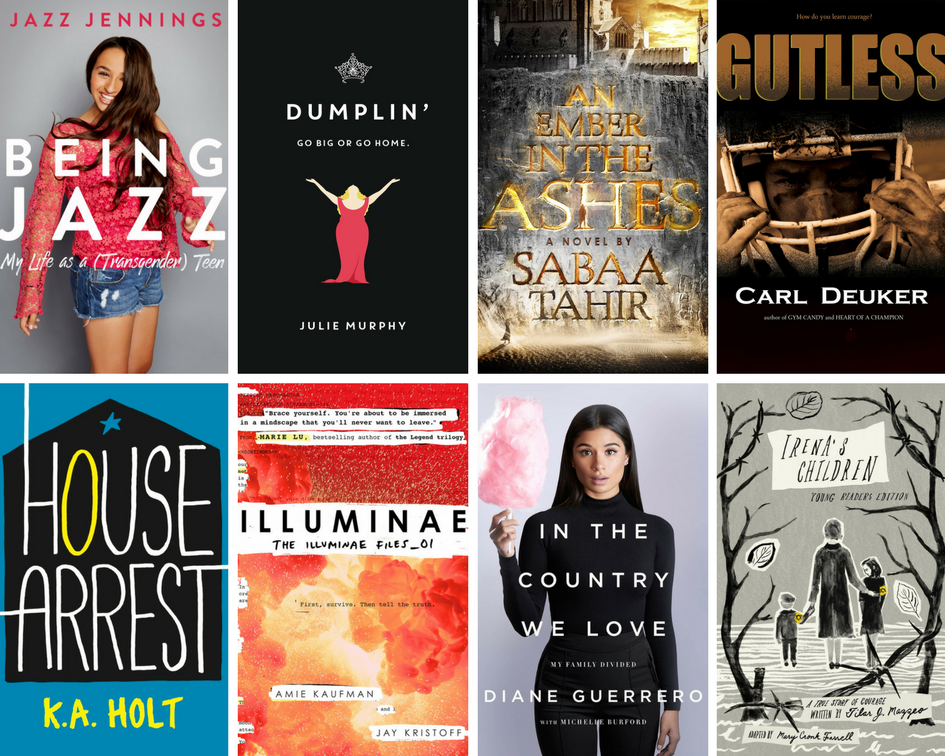First 8 covers of recommended summer reading booklist