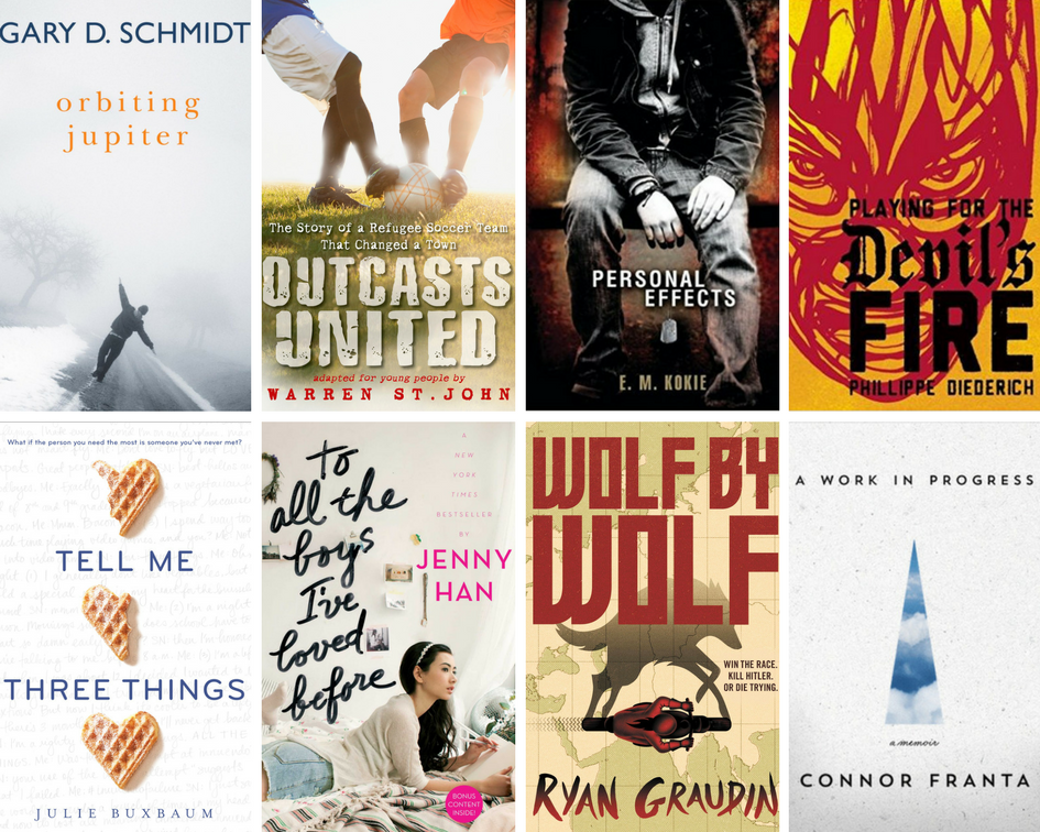 Second 8 covers of recommended summer reading booklist