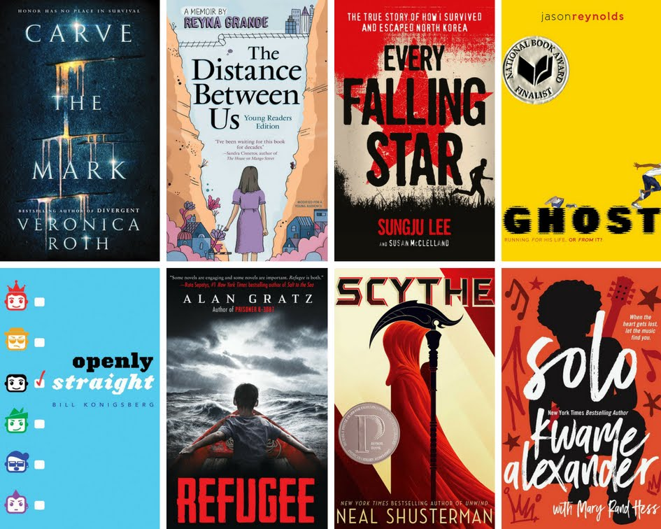 Book covers from recommended summer reading list